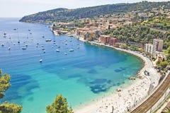 Küste in Eze, Süden von Frankreich Stockfotografie