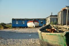 Küste, Häuschen fischend, Fischerboot Stockbilder