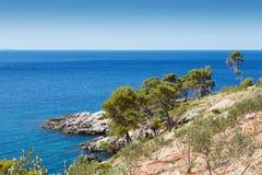 Küste im adriatischen Meer Lizenzfreies Stockfoto