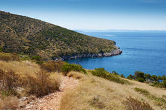 Küste im adriatischen Meer Lizenzfreies Stockbild
