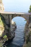 Küste Italien Fiordo di Furore Amalfi stockfotos