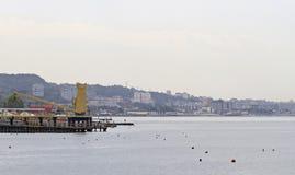 Küste in Khosta-Bezirk des größeren Sochis Lizenzfreie Stockbilder