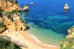 Küste Lagos, Algarve in Portugal Lizenzfreie Stockfotos