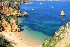 Küste Lagos, Algarve in Portugal Stockbilder