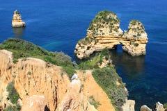 Küste Lagos, Algarve in Portugal Lizenzfreies Stockfoto