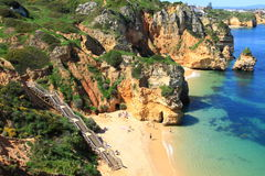 Küste Lagos, Algarve in Portugal Stockfotos