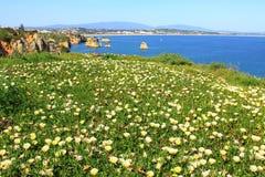 Küste Lagos, Algarve in Portugal Lizenzfreies Stockbild