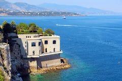 Küste Monacos und des Mittelmeeres Lizenzfreie Stockbilder