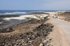 Küste nahe Kanarischer Insel Fuerteventura EL-Cotillo stockfotografie