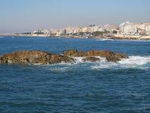 Küste in Porto, Portugal Lizenzfreies Stockbild