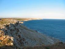 Küste Sankt-Cesarea Terme Lizenzfreie Stockfotografie