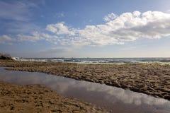 Küste Schwarzen Meers, Varna, Bulgarien Stockbild