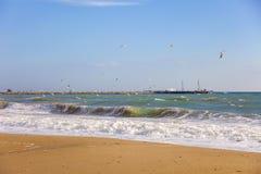 Küste Schwarzen Meers, Varna, Bulgarien Lizenzfreie Stockfotos