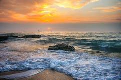Küste Schwarzen Meers, Varna, Bulgarien Stockfoto