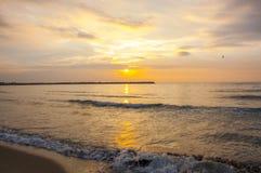Küste Schwarzen Meers, Varna, Bulgarien Lizenzfreies Stockfoto