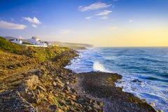Küste Sintra Portugal Lizenzfreie Stockfotos