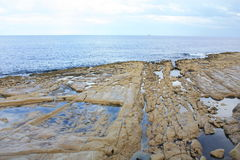 Küste in Sliema lizenzfreies stockfoto