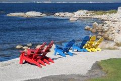 Küste-Stühle Stockfotografie