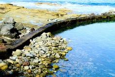 Küste und das Wasser Stockfoto