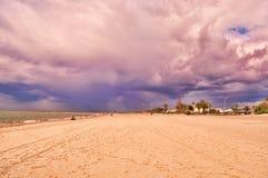 Küste und Dorf Lizenzfreies Stockfoto
