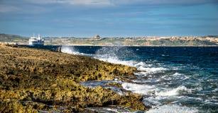 Küste und Klippen von Malta Lizenzfreies Stockbild