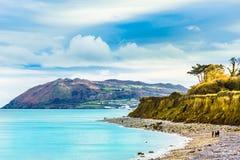 Küste und Strand des irischen Meeres durch Schrei nahe Dublin lizenzfreies stockfoto