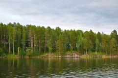Küste vom Onegasee Karelien Stockfotos
