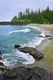 Küste vom Pazifischen Ozean in Kanada Stockfotografie