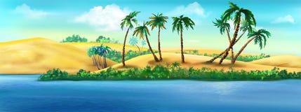 Küste von Ägypten von Nile River vektor abbildung