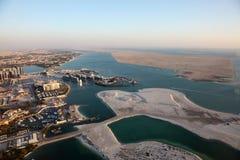 Küste von Abu Dhabi Stockfotos