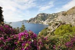 Küste von Amalfi Stockfotografie