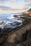 Küste von Bajamar Stockfotografie
