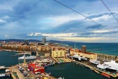 Küste von Barcelona Stockfotografie