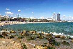 Küste von Barcelona in 20 September 2017 Lizenzfreies Stockfoto