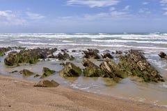 Küste von Bidart in Frankreich Lizenzfreie Stockfotos