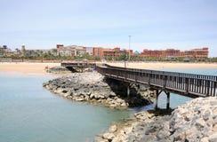 Küste von Caleta de Fuste, Fuerteventura stockbilder