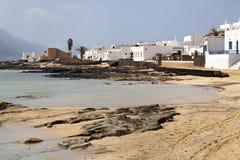 Küste von Caleta de Sebo auf La Graciosa stockbilder