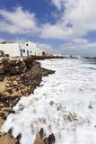 Küste von Caleta de Sebo auf La Graciosa stockfotografie