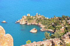 Küste von Cefalu stockbild
