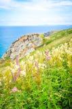 Küste von Cornwall in St. Ives, England lizenzfreies stockfoto