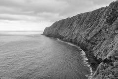 Küste von den Azoren Stockfotos