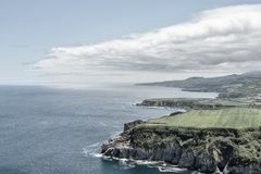 Küste von den Azoren Lizenzfreies Stockfoto