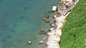 Küste von der Höhe stock footage