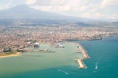 Küste von der Luft Lizenzfreie Stockfotografie