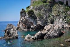 Küste von Dubrovnik Lizenzfreie Stockfotos