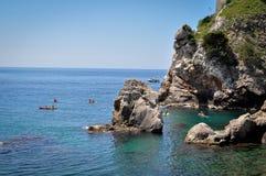 Küste von Dubrovnik Stockbild