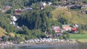 Küste von Fjord Geiranger, Stranda, Norwegen stock video