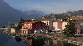 Küste von garda See Italien stock footage