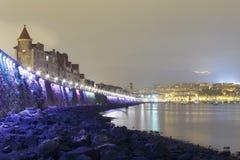 Küste von Getxo, Baskenland, Spanien Lizenzfreie Stockfotografie