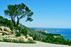 Küste von Hospitalet Del Infant, Spanien Lizenzfreie Stockfotos